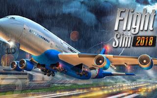 لعبة الطائرات Flight Sim 2018 مهكرة اموال غير محدودة! اخر اصدار للاندرويد