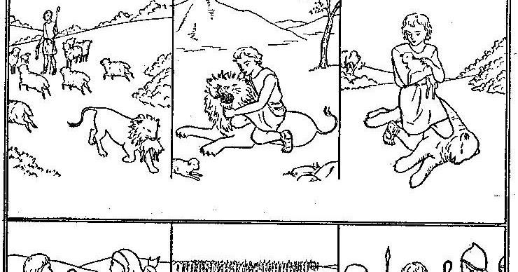 Dibujos Biblicos Para Colorear Del Rey David: Historia De David Para Colorear