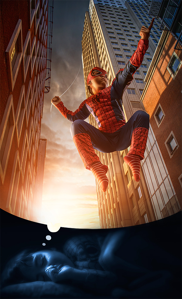 04-Spider-man-Adrian-Sommeling-Surreal-Photo-Manipulation-with-a-Son-s-Help-www-designstack-co