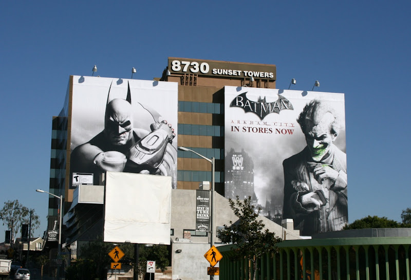 Batman Arkham City billboards Sunset Strip