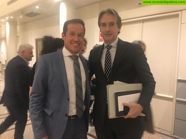 Hernández le trasmite al Ministro de Fomento la preocupación por la situación de las carreteras de La Palma