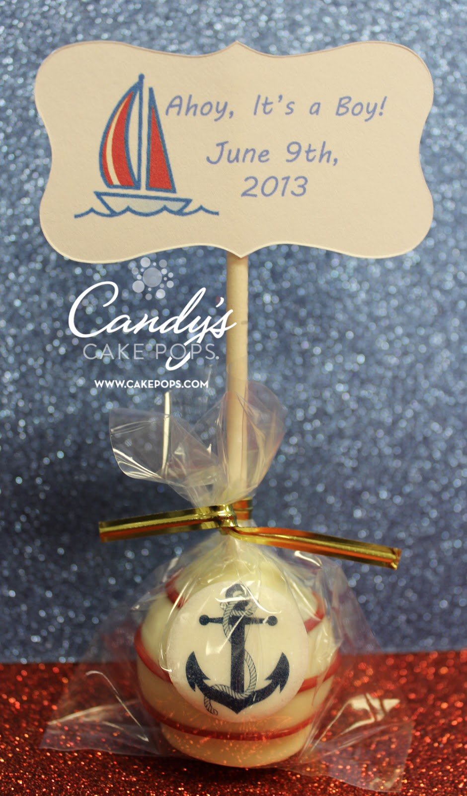Candy's Cake Pops: Nautical Theme Cake Pops / Anchors