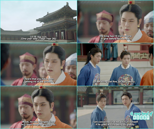 1 year after 3rd prince hair style 8th prince with 14th prince meet with 3rd prince - Moon Lover Scarlet Heart Ryeo - Episode 12 - Review