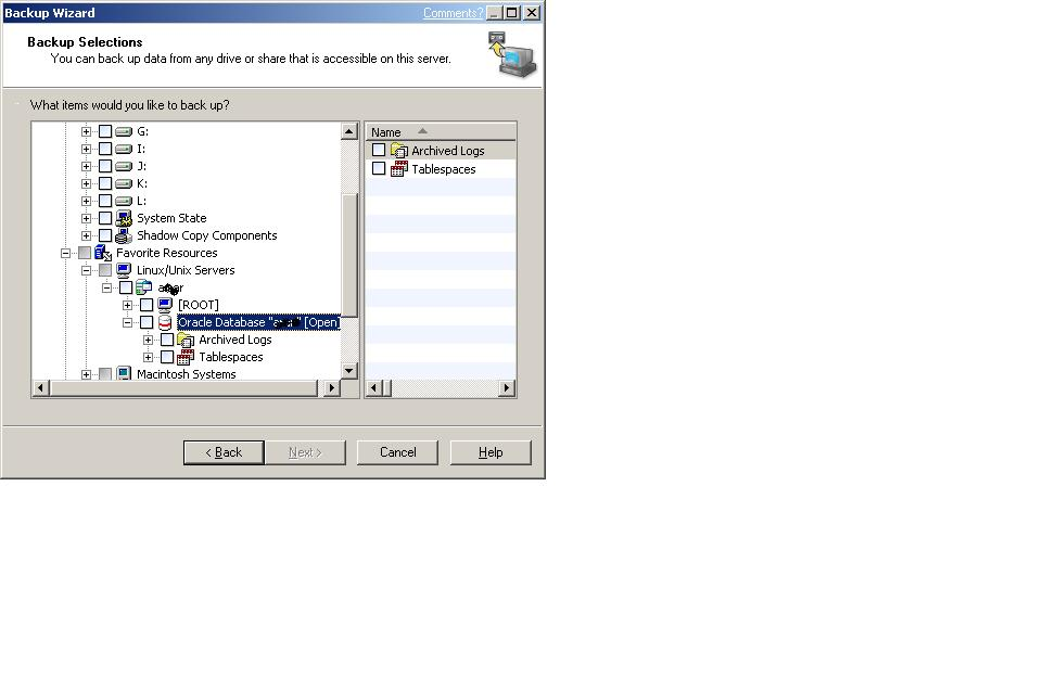 Arun - IT Admin: Symantect Backup Exec - Oracle Remote Agent
