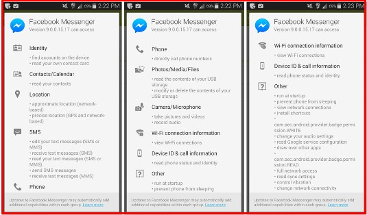 facebook messenger app privacy settings