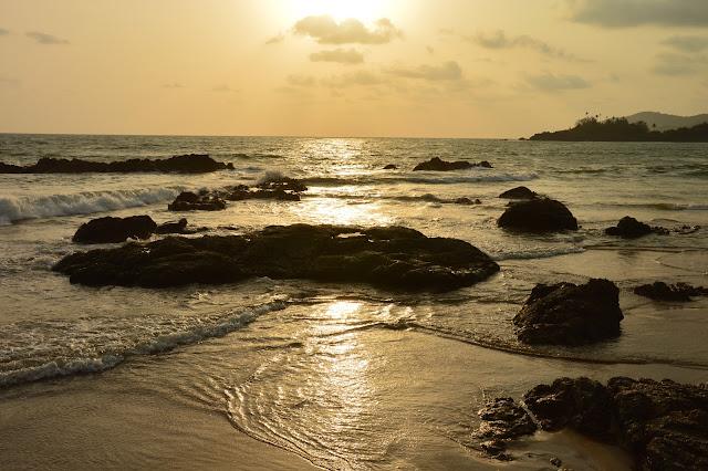 Coucher de soleil à Patnem Beach