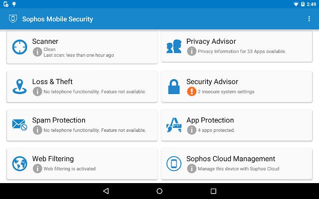 Sophos Mobile Security; Sophos Antivirus