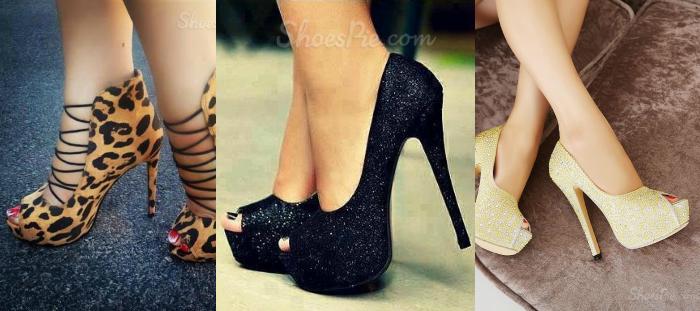 Shoespie, Sapatos de Salto Alto, Platform high heels