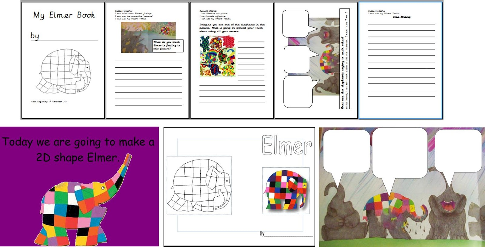 Colour Light Elmer Ks1 Eyfs Iwb Topic Resources Activities Worksheets Display