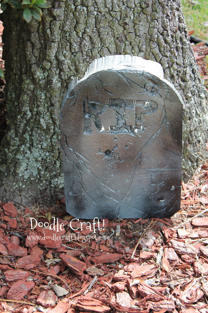 Doodlecraft Gravestones from Garbage