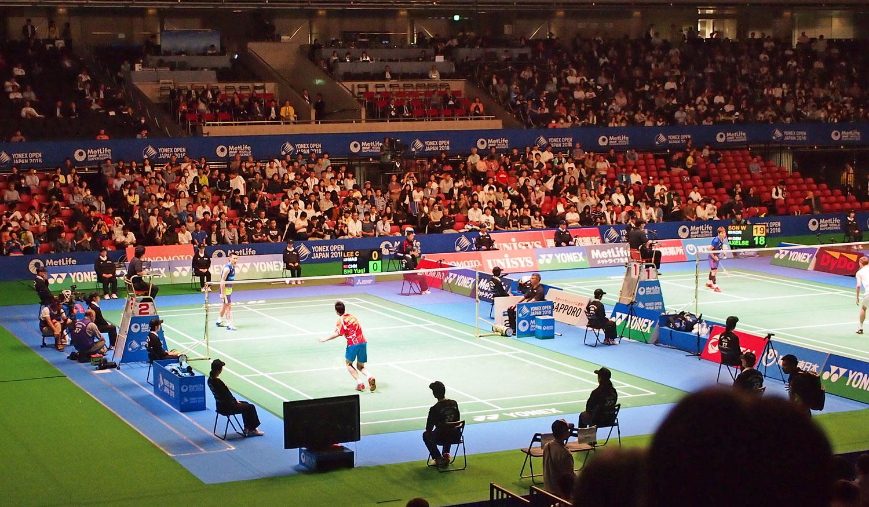 Lee Chong Wei at Yonex Badminton Open in Japan, Tokyo Metropolitan Gymnasium