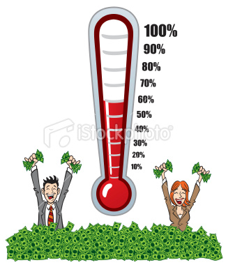 How To Make An Excel Company Goal Progress Fundraising Thermometer