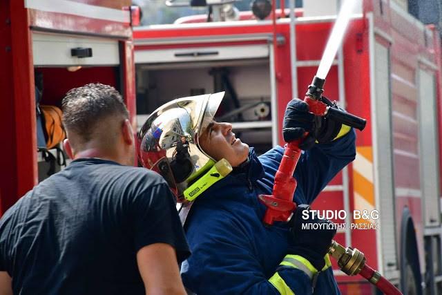 Φωτιά σε καμινάδα σε ψητοπωλείο στο Ναύπλιο