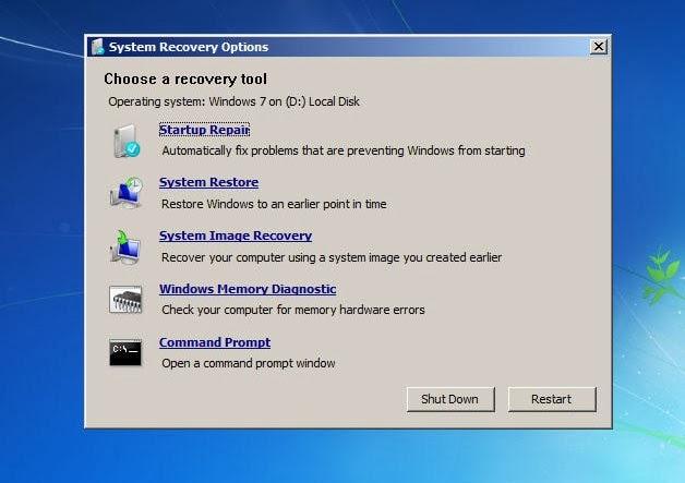 Pada kesempatan kali ini aku akan menawarkan sedikit trik memperbaiki windows yang error Cara Memperbaiki/Repair Windows 7 dengan Startup Repair Tanpa Instal Ulang