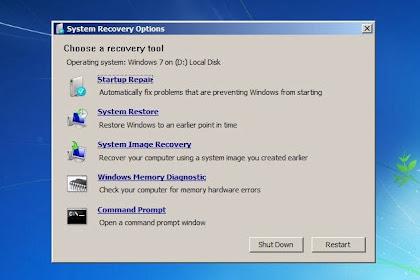 Belajar Komputer | Cara Memperbaiki/Repair Windows 7 dengan Startup Repair Tanpa Instal Ulang