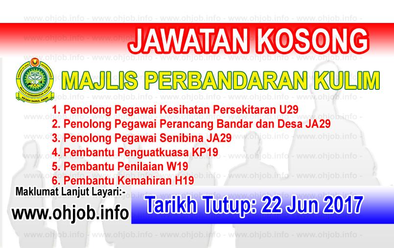 Jawatan Kerja Kosong Majlis Perbandaran Kulim - MPKK logo www.ohjob.info jun 2017