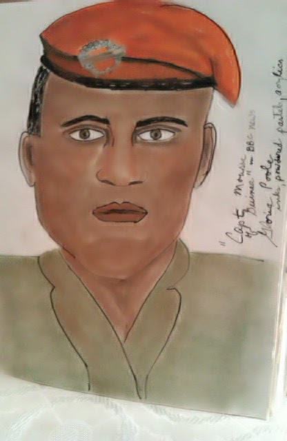 """Capn Moussa"" ethnic sketch by Gloria Poole of Missouri;"