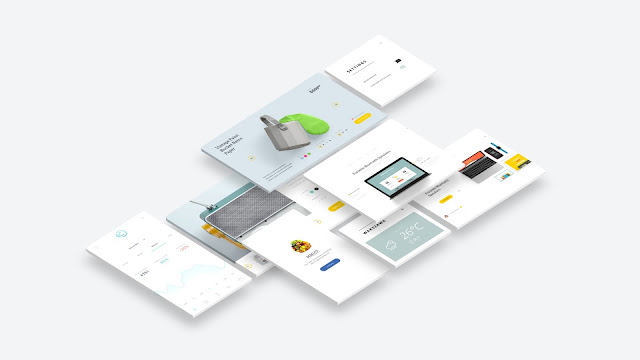 Free Web and App UI Screen Mockup PowerPoint Templates Slide 3