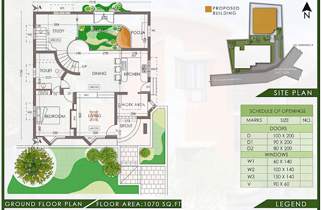 eco friendly 3bhk house plan latest