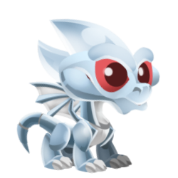 Appearance of Chrome Dragon when baby