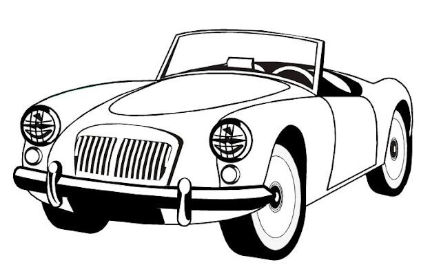 Carro Antigo Para Colorir Blogolista