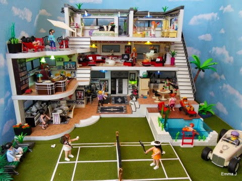 Art deco house for sale emma j 39 s playmobil - Playmobil haus schlafzimmer ...