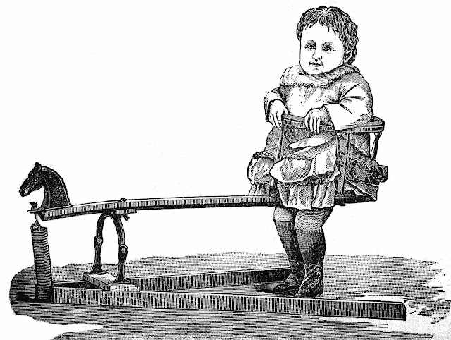 an 1883 Canada child's jumper device illustration