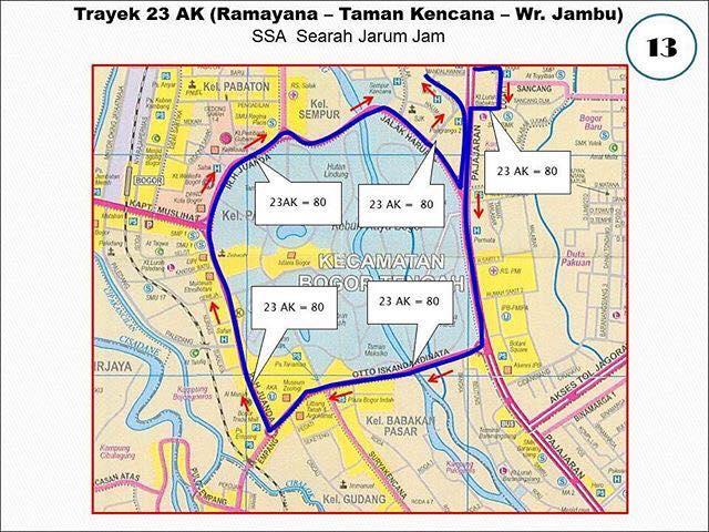 Rute Angkot Ramayana-Taman Kencana-Warung Jambu