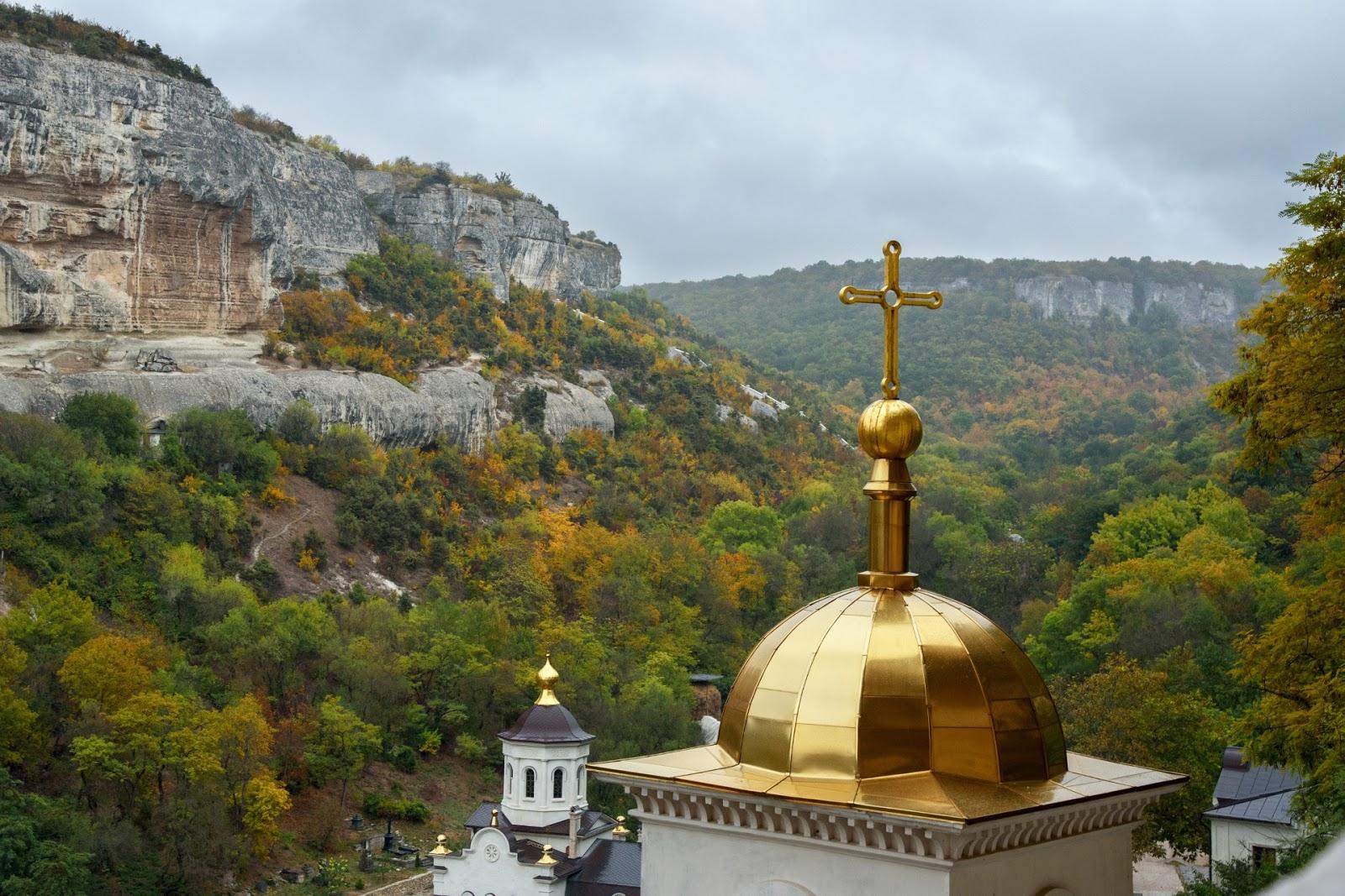 Вид с пещерного монастыря в Крыму