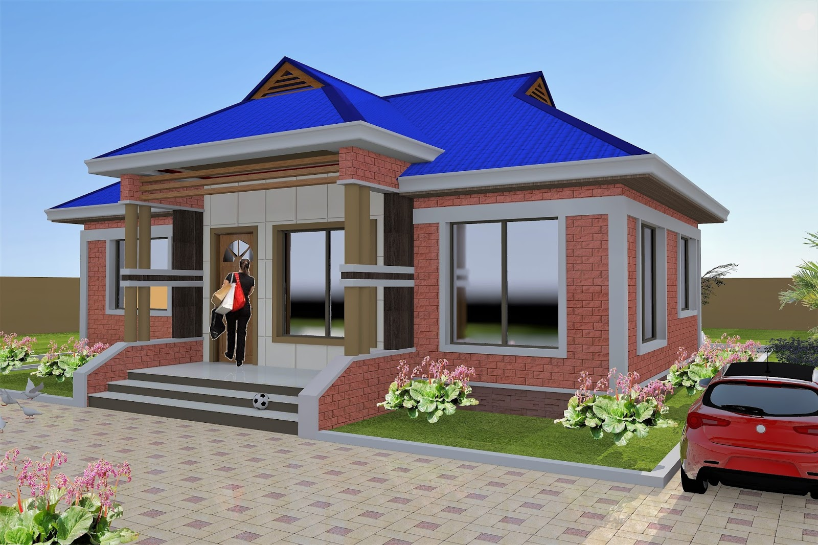 3 Bedroom House Plan (Hydroform Bricks) (ID MA-052)
