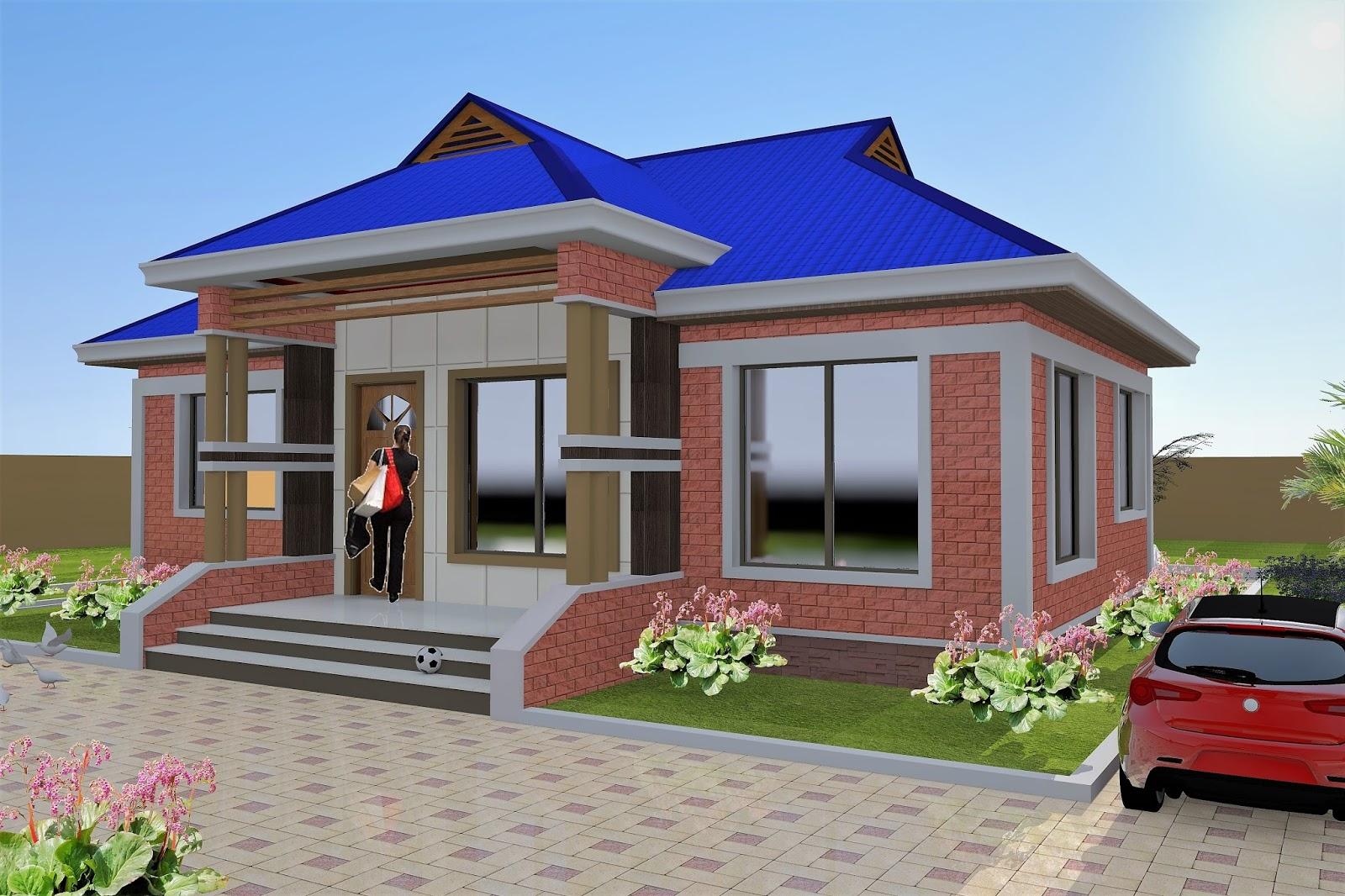 3 Bedroom House Plan (Hydroform Bricks) (ID MA-052)