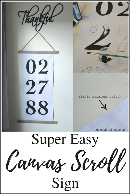Super Easy Canvas Scroll Sign
