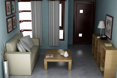 contoh desain ruang tamu minimalis 3x4