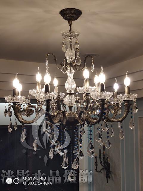 水晶燈飾、水晶燈、蠟燭水晶燈、水晶燈工廠