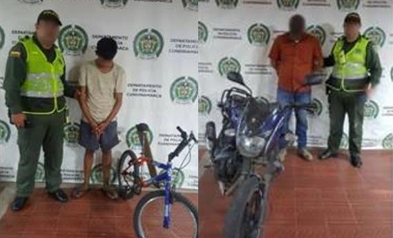 Una moto y una cicla fueron recuperadas en Girardot, con saldo de un capturado y un estafado