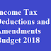 New Sections and Tax Benefits for Individual in FY 2018-19