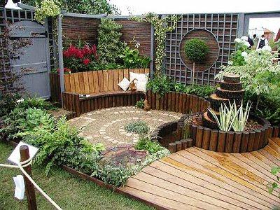 10 Patios Acogedores Decoracion De Jardines Pequenos Ideas - Patios-jardines-pequeos