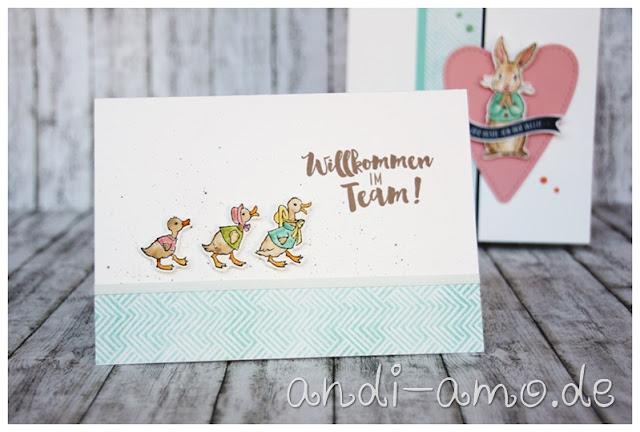 Geschenk und Karte Stampin Up Fable Friends