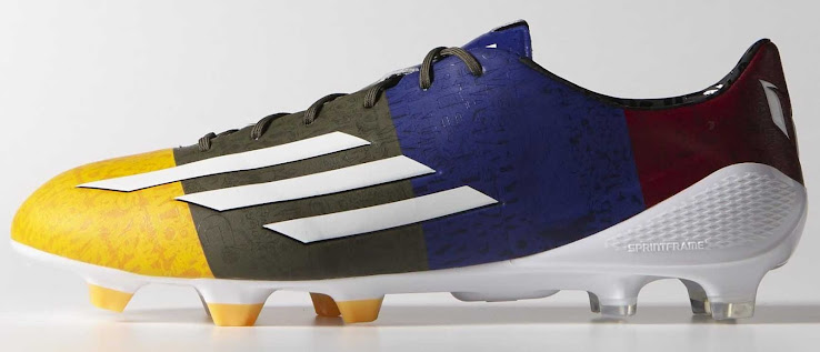 Messi 14-15 Adidas F50 Adizero Champions League Solar Gold   White   Earth  Green 9d84e454c603c