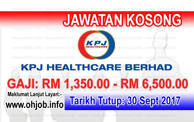 Jawatan Kerja Kosong KPJ Healthcare Berhad logo www.ohjob.info september 2017