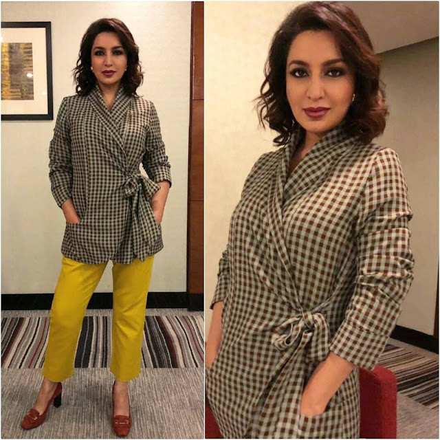Tisca Chopra in Cord and Marks and Spencer