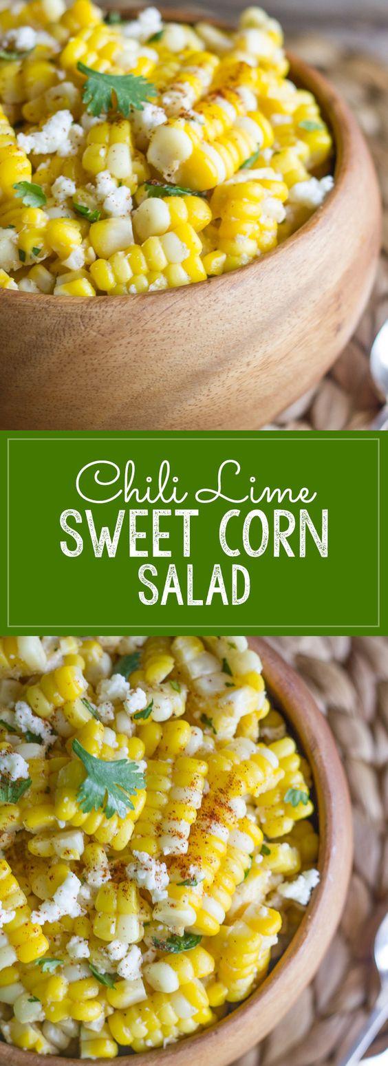 Chili Lime Sweet Corn Salad | CUCINA DE YUNG