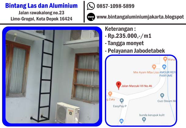 harga dan model tangga monyet aluminium