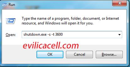 cara timer mematikan laptop komputer evilicacell