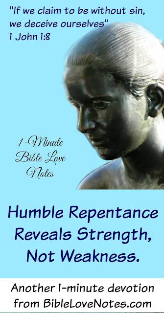 Repentance, Importance of Repentance, 1 John 1:8