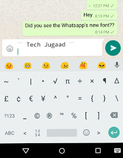 How to use Whatsapp's new font?