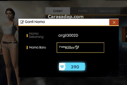 Nickname Letda Hyper FF