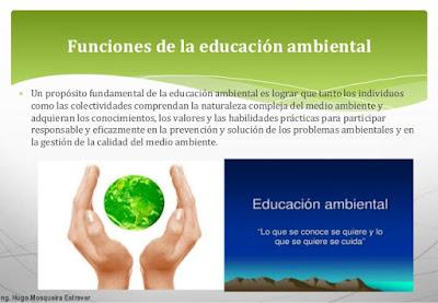 Funciones de la Educación Ambiental