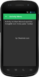 Hasil Tampilan Icon Menu Toolbar Android