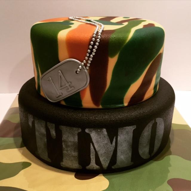 leger taart Camouflage leger taart / Army themed cake   Taarten; Gemaakt door  leger taart